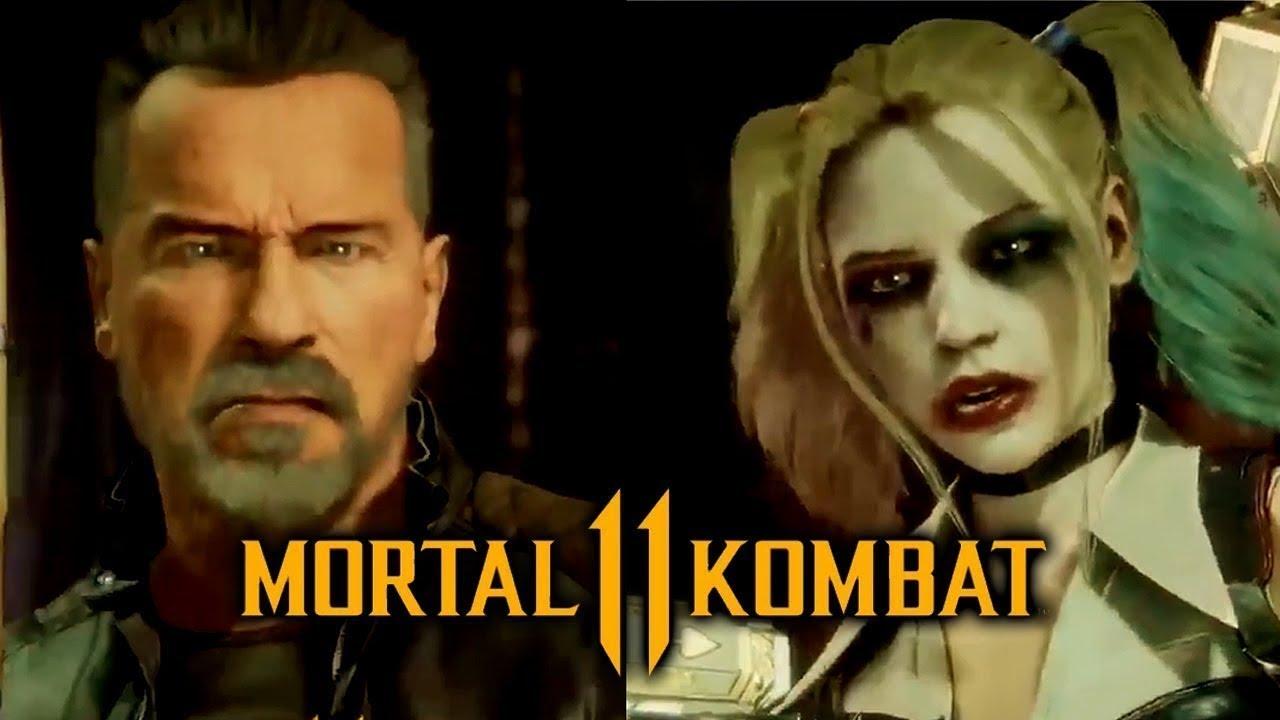 Terminator Harley Quinn Skin Coming To Mortal Kombat 11